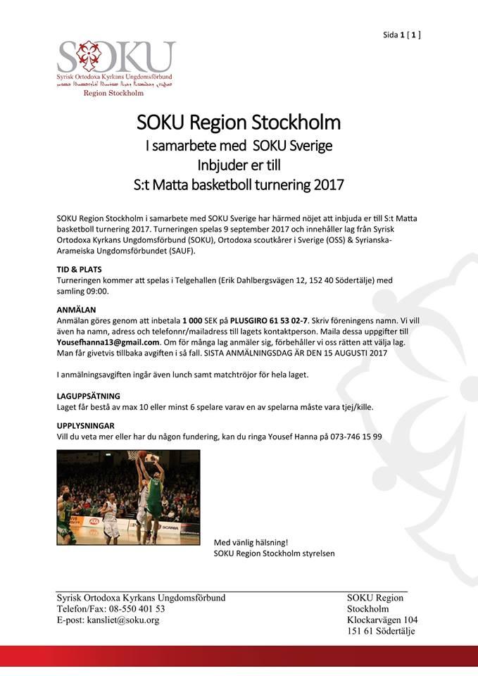 basketturnering info 2017